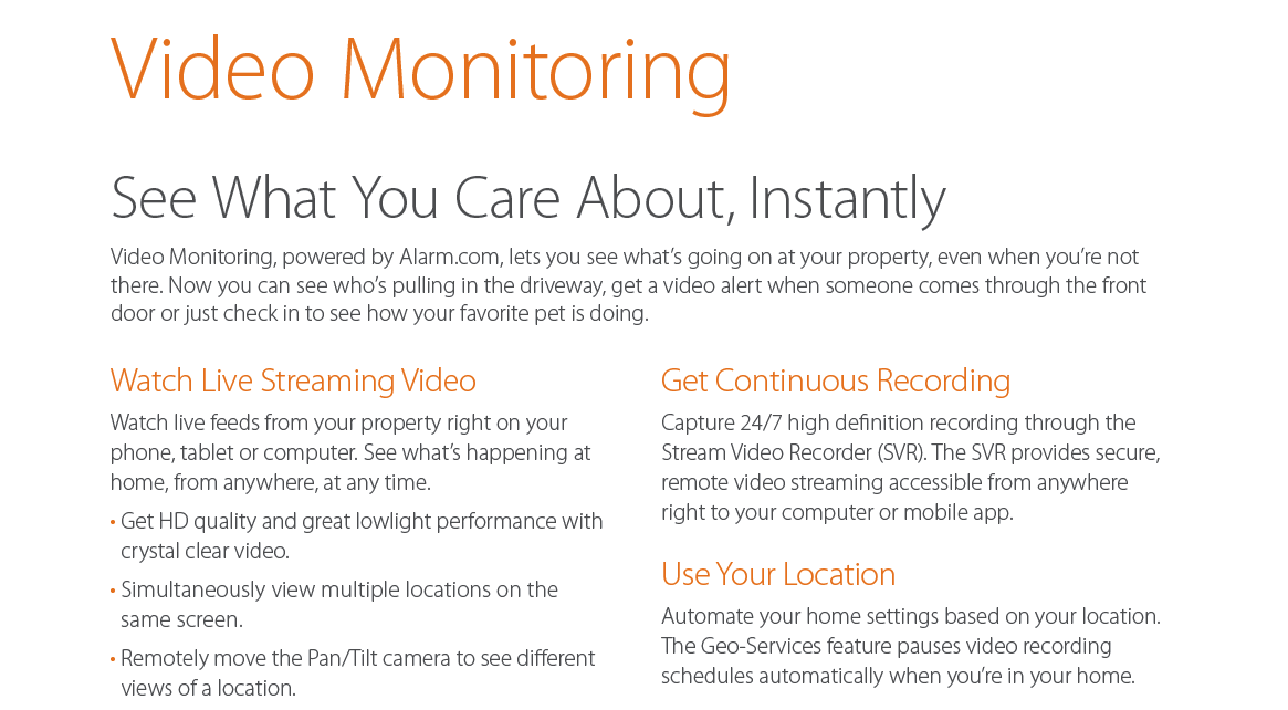 video monitoring 1